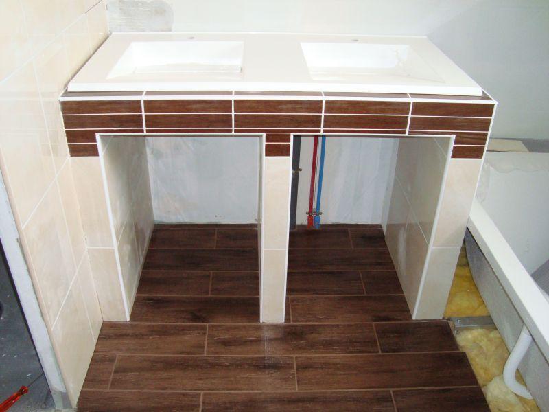 Salle de bain at il tait une fois notre maison - Comment fabriquer un meuble de salle de bain ...